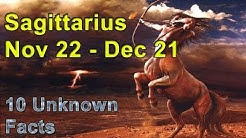 10 Unknown Facts about Sagittarius | Nov 22 - Dec 21 | Horoscope | Do you know ?