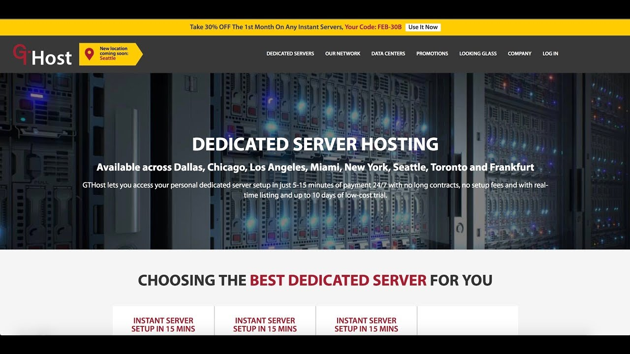 GTHost | Instant Dedicated Servers