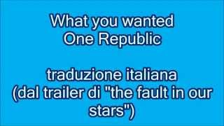 What you wanted - OneRepublic (traduzione italiana)