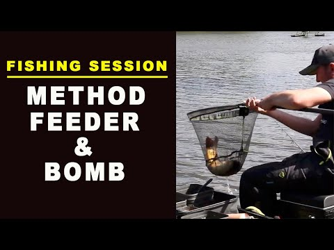 Fishing For Carp On The Method Feeder And Bomb At Fleets Dam