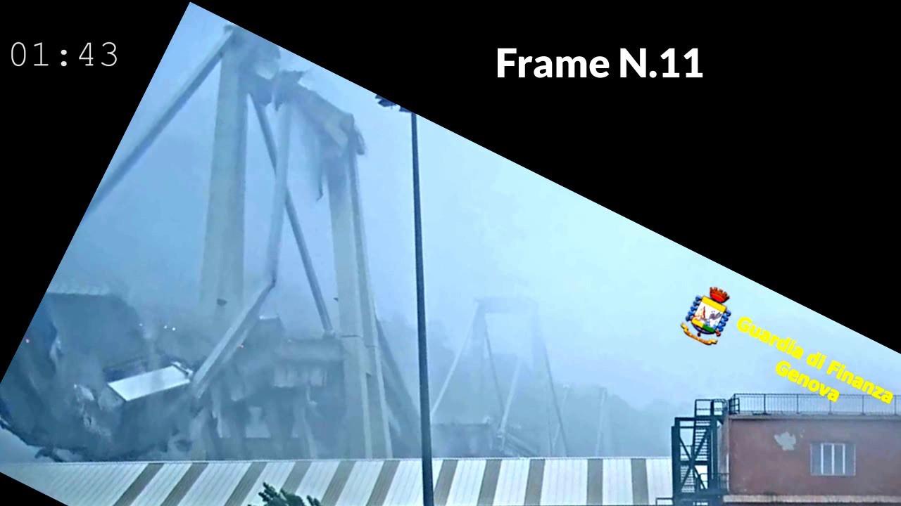 analisi frame video ponte Morandi rilasciato il 1 luglio 2019 (2)