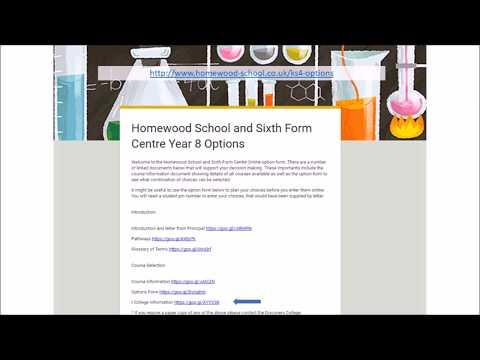Homewood School KS4 Options
