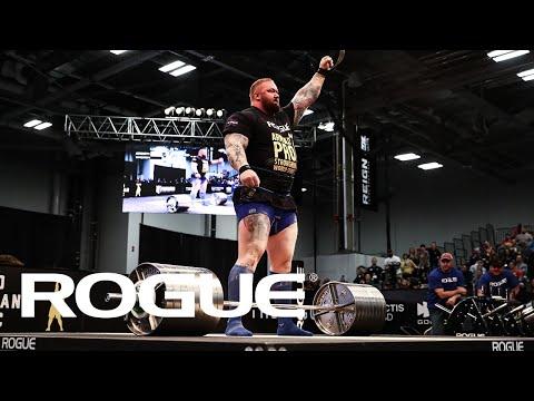 Rogue Elephant Bar Deadlift Highlights   Arnold Strongman Classic 2020 - Event 4