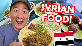 Trying SYRIAN FOOD for the First Time (Must Try Syrian Foods)