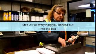 How to seal a bank deposit bag
