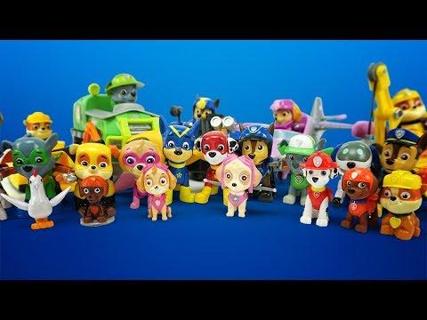 Щенячий патруль коллекция игрушек из мультика