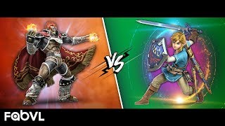Link vs Ganondorf Rap Battle (Super Smash Bros Ultimate) - FabvL