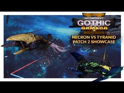 BATTLEFLEET GOTHIC ARMADA 2 (Patch 2) | Necron vs Tyranid (Ranked 1v1)