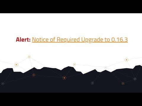 URGENT Upgrade: Bitcoin Core 0.16.3
