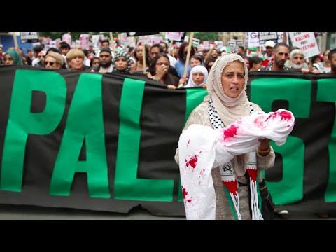 Palestine Demo March to Israeli Embassy 2014 UK London