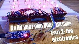 Build your own RGB LED Cube Part 2: the electronics(Twitter: https://twitter.com/GreatScottLab Facebook: https://www.facebook.com/greatscottlab Previous video:http://youtu.be/uQMUPhyoXoE Part ..., 2014-04-05T11:29:47.000Z)