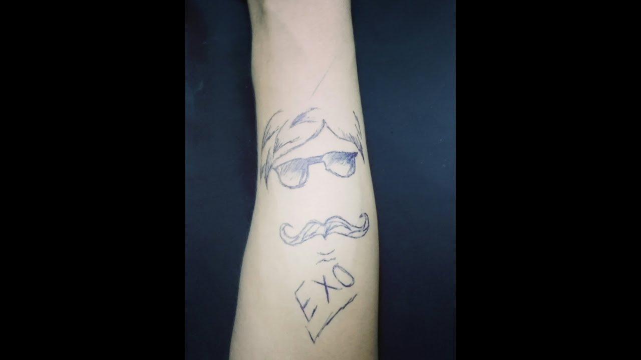 رسم وشم بقلم الجاف على اليد لشباب خورررافي حسوني Exo Youtube