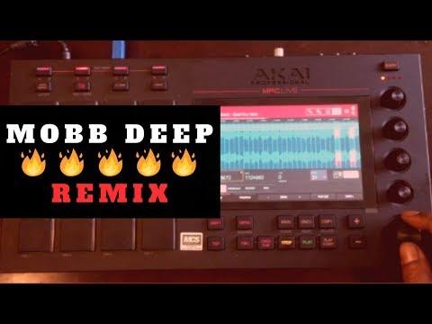 Fire Mobb Deep Remix! Beat Making Mpc   Prodigy Acapella Chopping Block