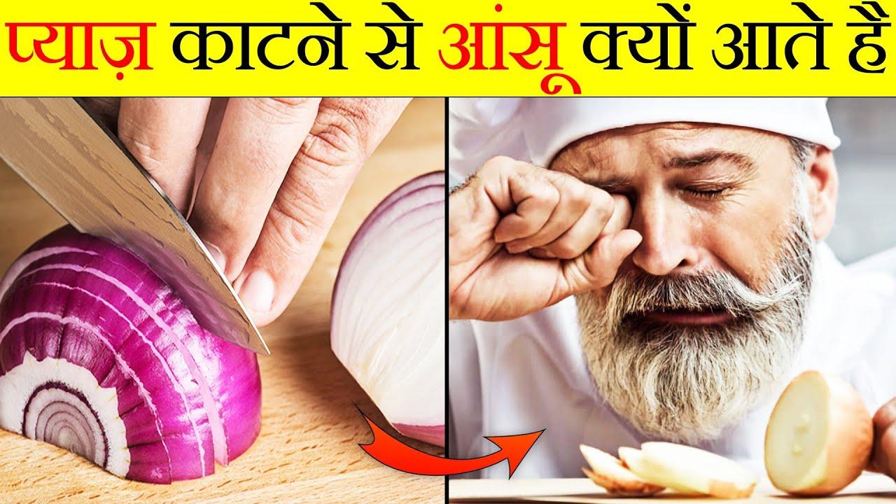 प्याज काटने से आंसू क्यों आते हैं? | Why does cutting an onion bring tears? | Random Facts | FE #100