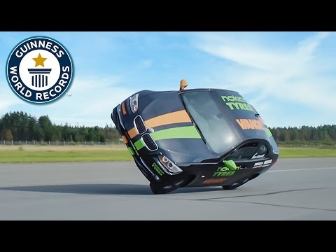 Fastest side wheelie in a car - Guinness World Records
