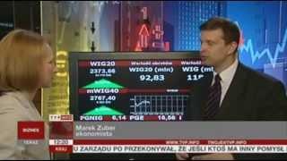 Ekonomista Marek Zuber komentuje dane ws. bezrobocia (TVP Info, 24.05.2013)