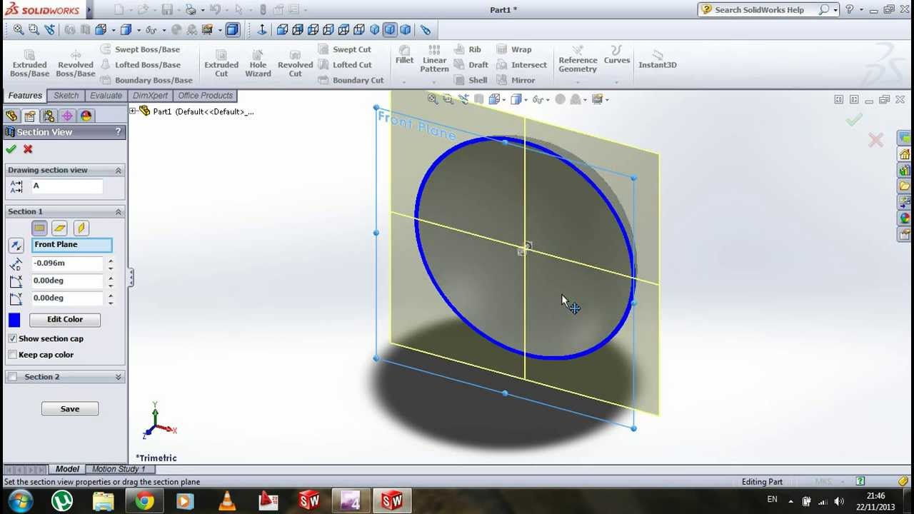 How To Make Any Object Hollow In Solidworks 2013 Tutorial
