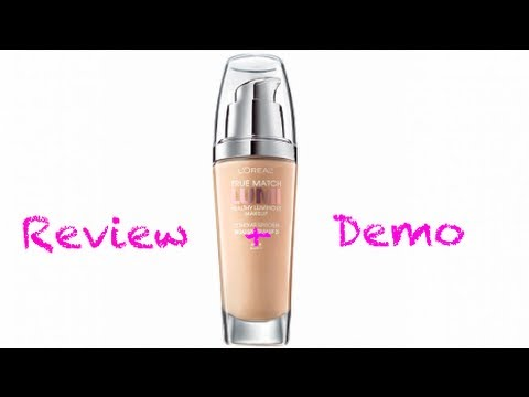 Demo + Review: L'oreal True Match Lumi Healthy Luminous Foundation - YouTube