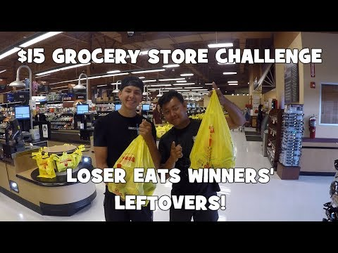 1VS1 $15 GROCERY STORE CHALLENGE!!! Loser EATS LEFT OVER Baits! ft. FirstStateFishing (Delaware)