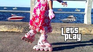 LIBURAN SERU 💖 Jessica Bermain Sepatu Roda di Dermaga Kapal Laut 💖 Inline Skate Kids 💖 Mainan Anak