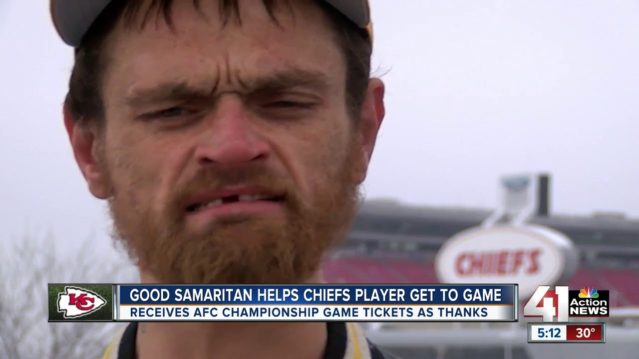 Homeless man helps Chiefs player Jeff Allen make it to playoff game
