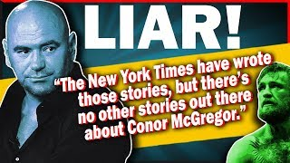 Download lagu Dana White LIES About The Reports On Conor And MMA