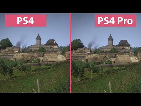 [4K] Kingdom Come Deliverance – PS4 vs. PS4 Pro Graphics Comparison