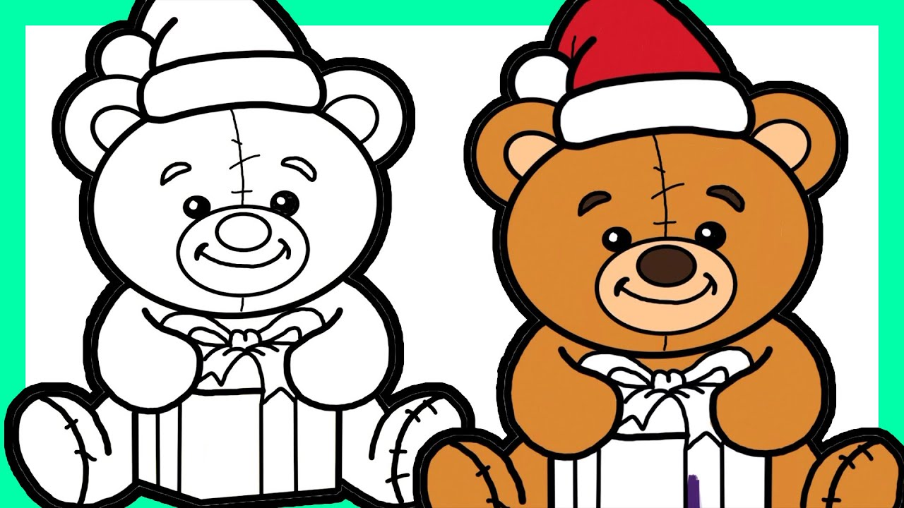 How To Draw Cute Christmas Stuff Coloring Pages For Kids ...