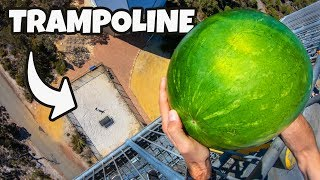 WATERMELON Vs. TRAMPOLINE from 45m! thumbnail