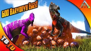 Amazing BARYONYX COLOR MUTATIONS! Ark Survival Breeding Evolved