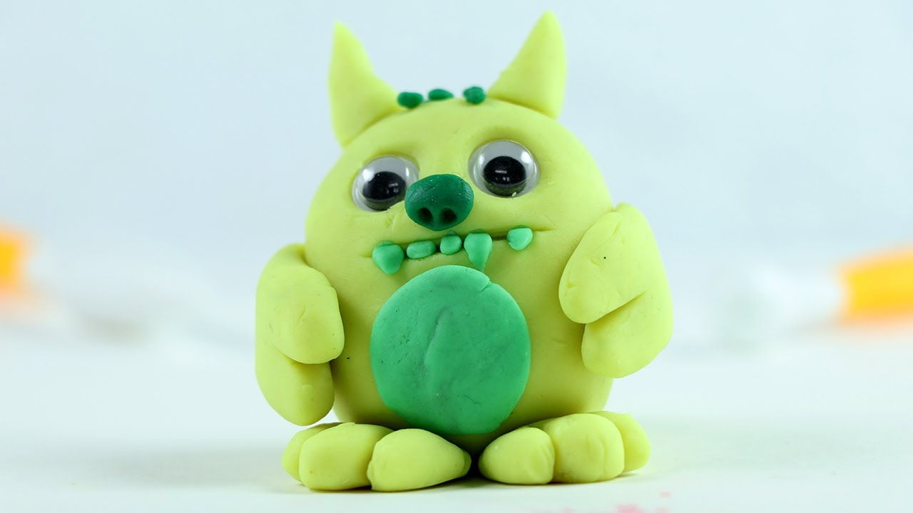 Play Doh Clay Monster Making Tutorial Youtube
