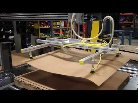 Slip Sheet Dispenser For Palletizer Conveyor Systems