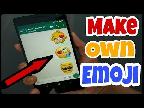 How To Make/Create Custom EMOJI For Whatsapp And Other Social Media || Own Emoji || Tech Cookies