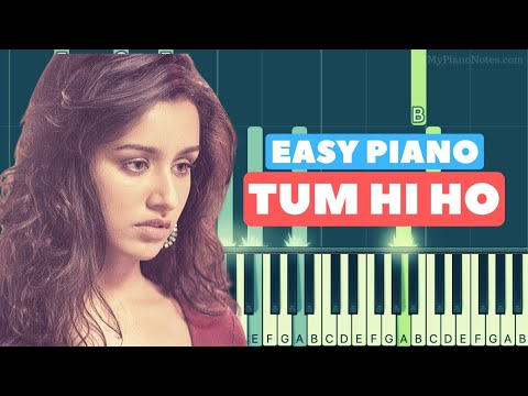 tum-hi-ho---piano-tutorial-for-beginners-|-easy-letter-notes-&-chords-|-aashiqui-2-|-slow