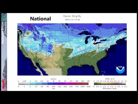 A Look Back On: The Winter Of 2013-14 - National Snow Depth Timelapse