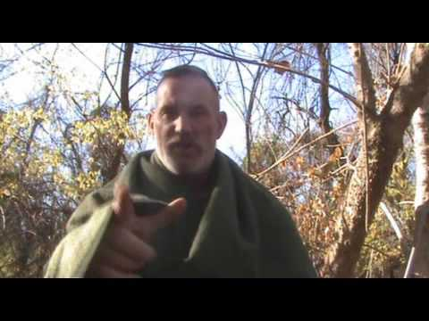 """Building a Discount Bushcraft Kit Part 5 (Wool Blankets), converting blanket to poncho"""