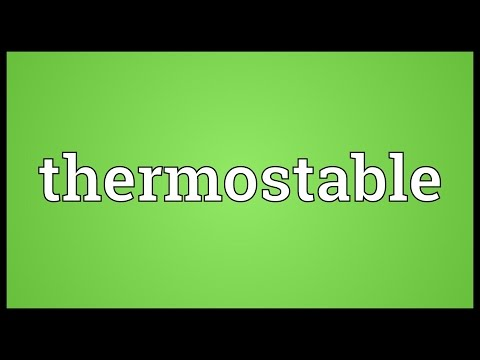 Header of thermostable
