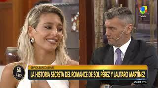 Sol Pérez contó la verdad de su romance con Lautaro Martínez