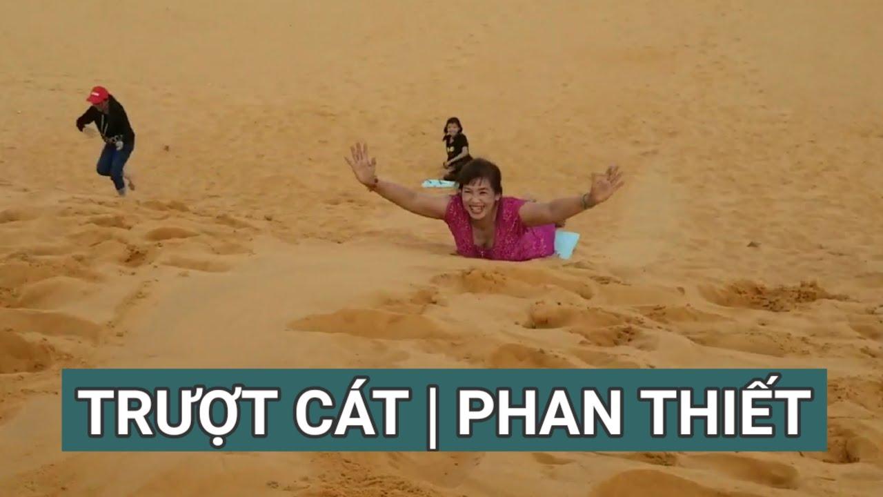 """Trượt Cát trên Đồi Cát Bay ở Phan Thiết gặp người phụ nữ """"Đặc Biệt"""""""