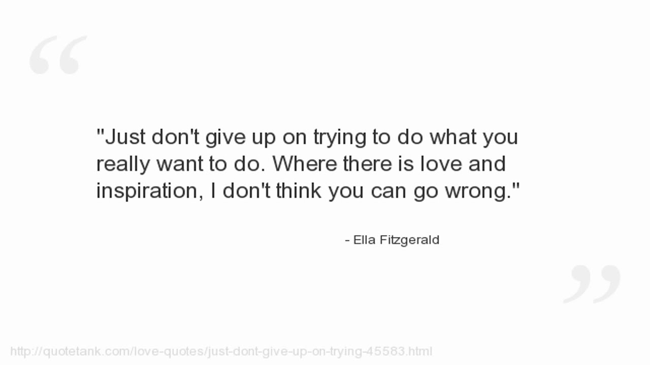 F Scott Fitzgerald Love Quote Ella Fitzgerald Quotes  Youtube