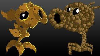 ROCK PEA против ВСЕХ | Прокачка каменного горохомета - Растения против Зомби: Садовая Война 2
