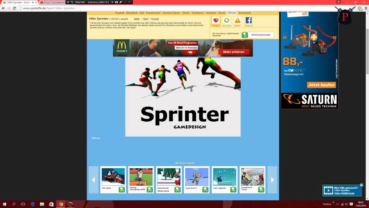 Lets Play Spieleaffe S M Sprinten YouTube - Minecraft spielen auf spielaffe de