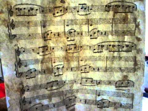 Tea Stained Music Sheet.