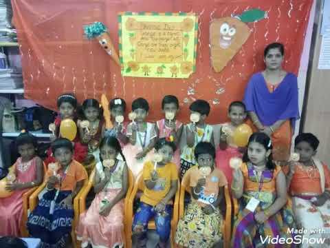 Little Genius Montessori School celebrate orange day