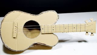 How to Make a Cardboard Guitar at Home