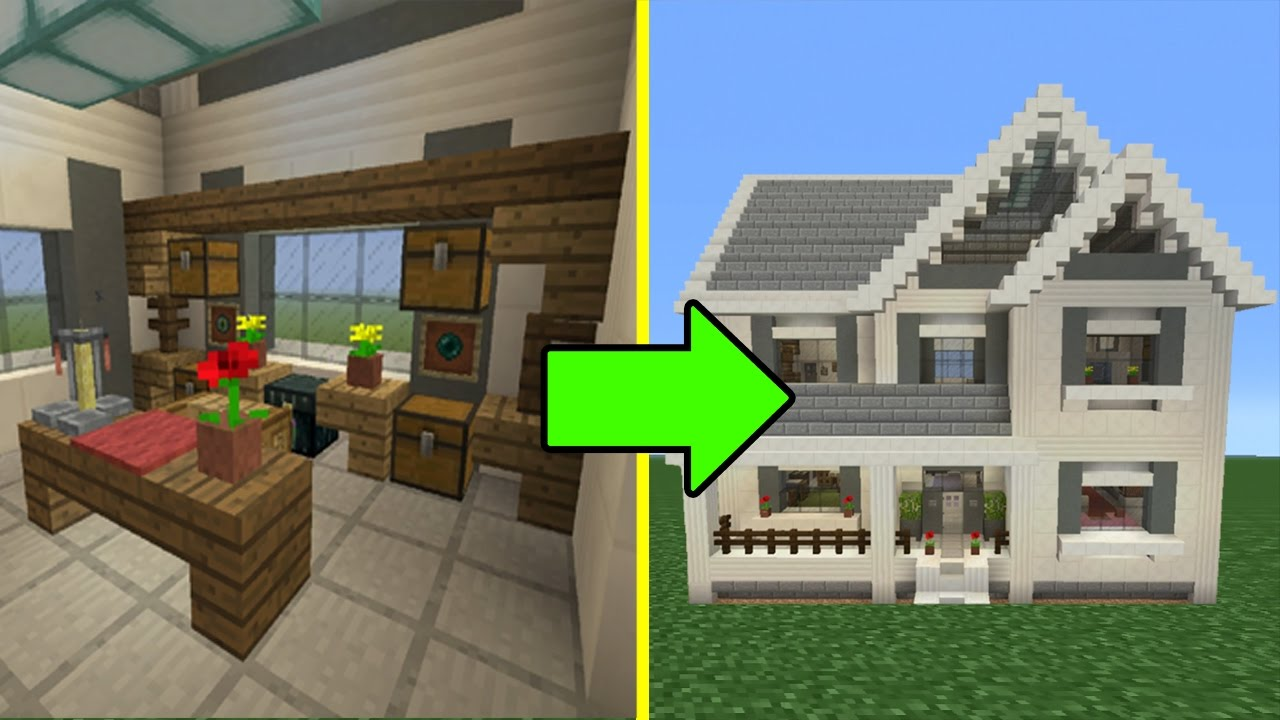 Minecraft Tutorial How To Make A Suburban House 10 Inside Outside Youtube