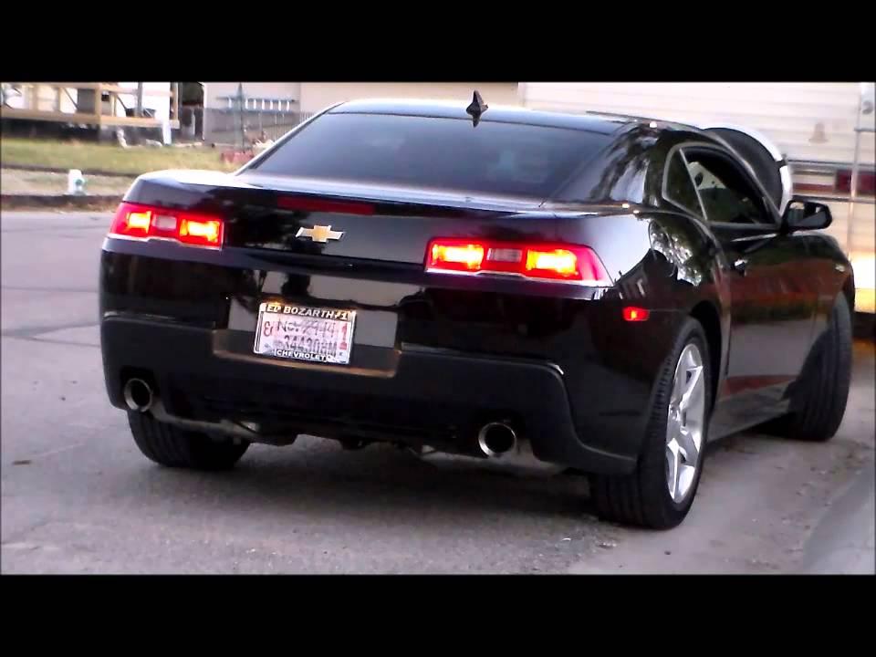 2010 2015 chevrolet camaro v6 stock exhaust vs mrt axle back exhaust