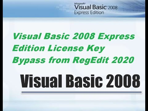 Visual Basic 2008 License Key Bypass from RegEdit 2020 - YouTube
