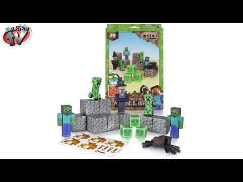 Minecraft: Overworld Hostile Mobs Pack Papercraft Toy Review, Jazwares