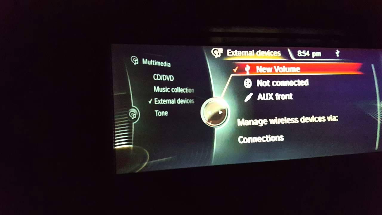 BMW F10 coding multimedia video USB